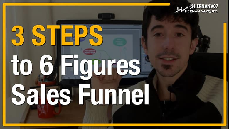 3 Steps to 6 Figure Sales Funnel (Dead Simple) - Hernan Vazquez